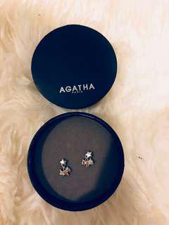 Agatha Paris Dog Earrings with crystals