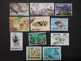 Mix Collection Of Malaysia 40c & 50c - 11v Used Stamps