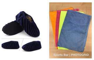 Shoe Cover + 30 x 40 Microfibre cloth for Bowling