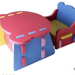 Eva foam children's table and chair