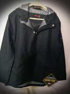 全新Mammut Goretex-Pro超輕透氣上班戶外男裝黑連帽Jacket