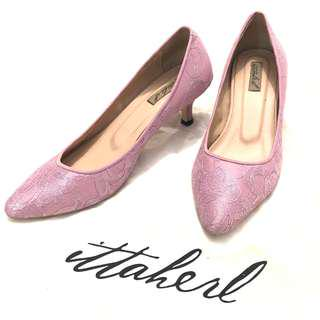 Ittaherl lace pink heels size 37