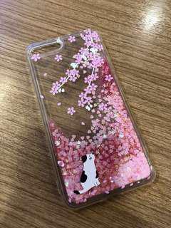 New💕iPhone 8+ silicon Sakura drop phone casing
