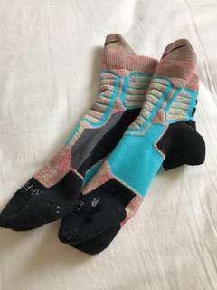 New Elite Nike basketball running socks dri fit multi color