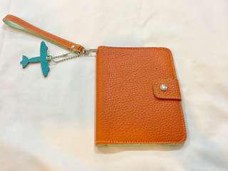 Orange Passport Holder