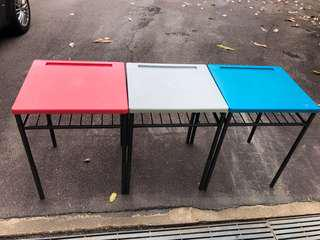 3 school tables