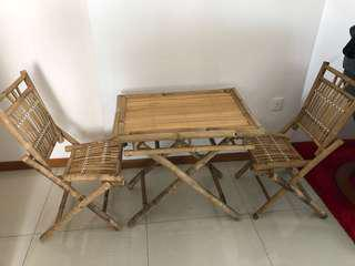 Bamboo chair and table