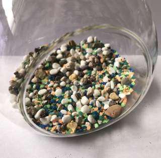 Natural Mixed Mini Stone + Color Sand