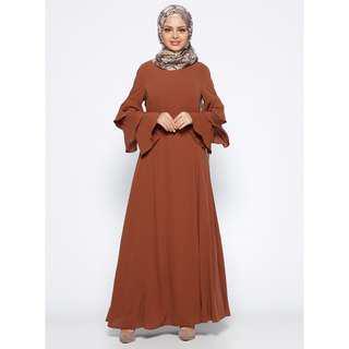 Layered Ruffle Sleeve Dress