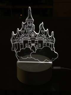 LED七色觸控小夜燈 (USB頭/2A電池)