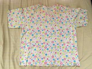 Pcastwl Large Polka Dots Scrubs Top