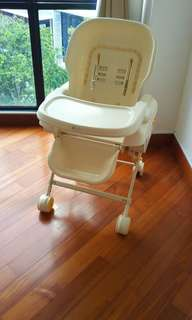 Combi rocker + Baby High Chair 2 in 1 with seat cover