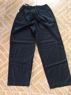 Castel Large Black Reversible Scrubs Pants