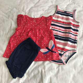 Carter's dragonfly Baby Romper set