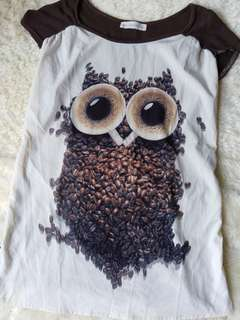 Coffee/owl top
