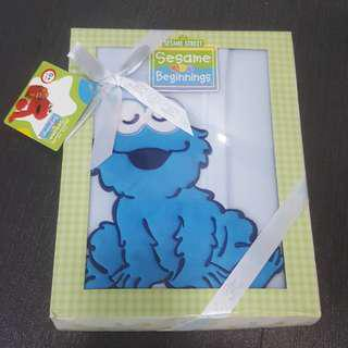 Baby Cookie Monster Blankt Gift set