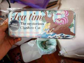 全新日本迪士尼愛麗詩妙妙貓筆盒