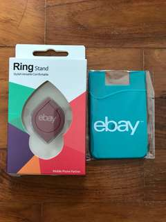eBay Magnetic Ring Stand & Credit Card Back Cover