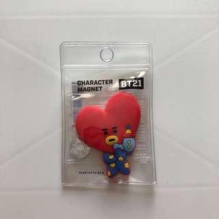 🚚 BTS BT21 防彈少年團 TATA Magnet 鎡石貼 韓國正版