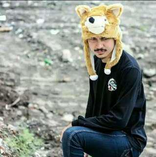 Animal Hat / Topi Kupluk Hewan Serigala UNISEX #mauiphonex
