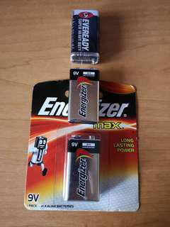 Energizer and Eveready 9V batteries (trade)