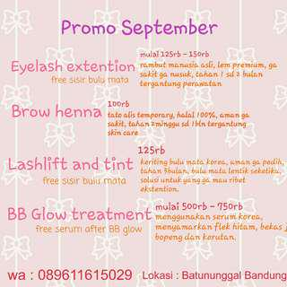 Eyelash extention - lashlift - BB Glow