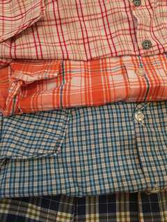 Assorted polo shirts