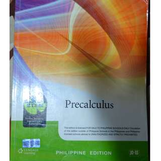 PreCalculus Cengage Learning Grade 11 - 12 Textbook