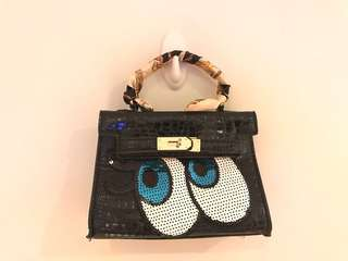 Hermes wannabe purse/ bag patent black