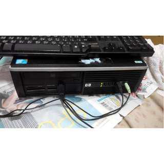 HP Compaq DC8000桌上型電腦 包含19吋螢幕 HP LE1911 19吋 液晶螢幕 二手良品 可開機使用