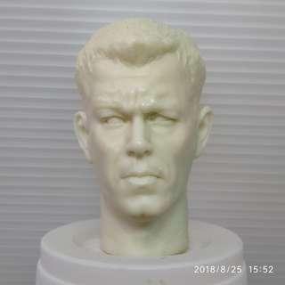 1/6 MATT DAMON Head Sculpt UNPAINTED