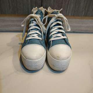 Jeans Platform Shoe