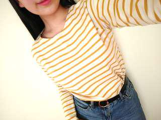 Levi Vintage Yellow Striped Top
