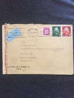 WW2 Norway 1943 Censor Cover Oslo to Dortmund Germany