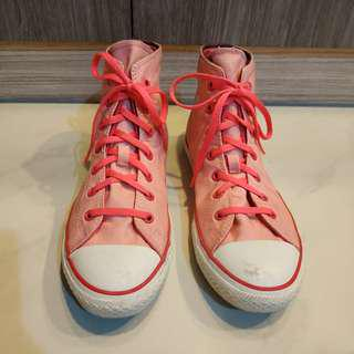 Authentic Pink Converse High Tops