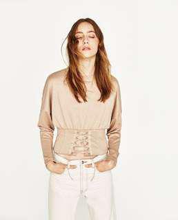 🚚 Zara corset knit sweater