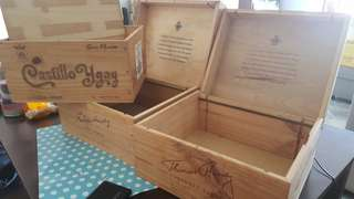 Wines wooden box