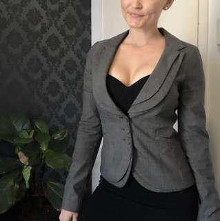 Portmans grey suit jacket - size 8