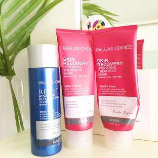 Paula Choice Skin Recovery Hydrating Treatment Mask Resists Advanced Replenishing Toner