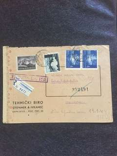 WW2 Sarajevo 1944 Censor Cover to Dortmund Germany, Cenzura Br 156 Censor Mark
