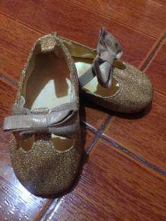 H&M baby gold shoes