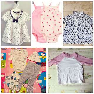 H&M baby girl clothes (3-9 months)