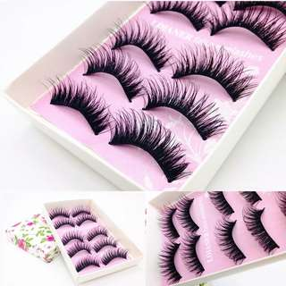 🚚 Natural Handmade Long False Black Eyelashes