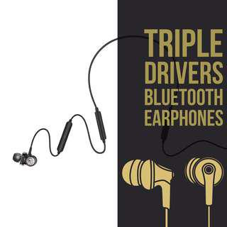 Triple Drivers Bluetooth Earphones