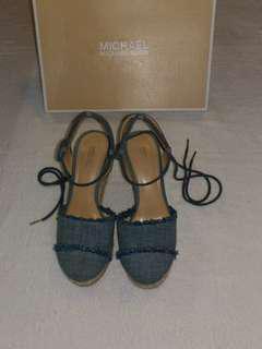 🚚 專櫃正品 美國MK綁帶楔型鞋