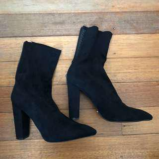 Bellini Heels Boots Black size 9