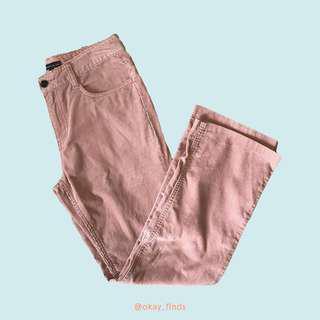 Bossini Ladies Dusty Rose Corduroy Pants