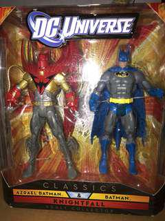 Dc Universe Mattel classics Azrael Batman and Batman 2 pack