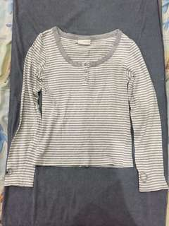 NowOn White Stripe Top