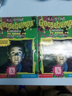 Goosebumps (go eat worms)2x 3$ each.